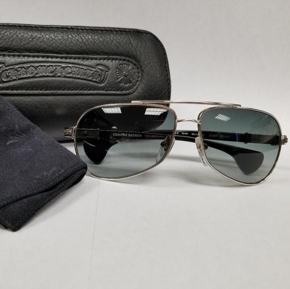 f1ee31bce56 Chrome Hearts Other - Chrome Hearts Baby Beast Aviator Sunglasses